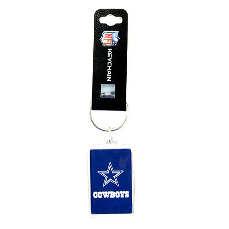 Acrylic Square Key Tag - Dallas Cowboys NFL Acrylic Key Chain