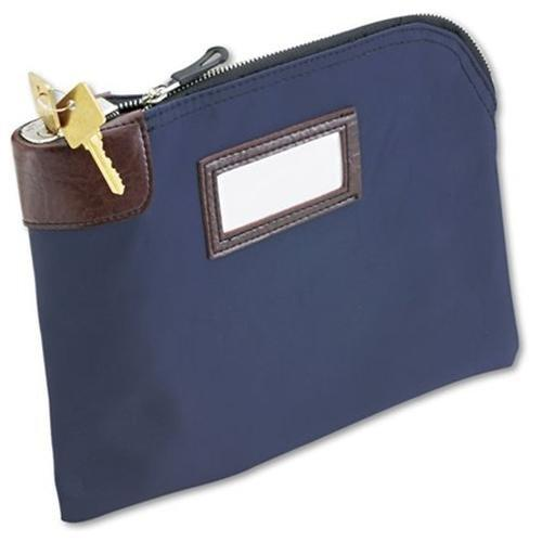 "Mmf Currency Bag With Built-in Lock - 11"" X 8.50"" - Nylon - 1each - Blue (2330981W08)"