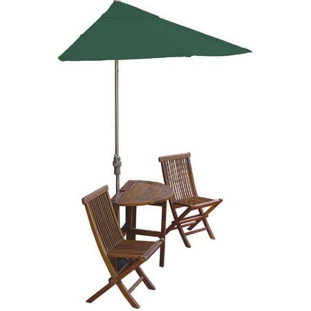 Terrace Mates 5-Piece Asian Hardwood Dining Set