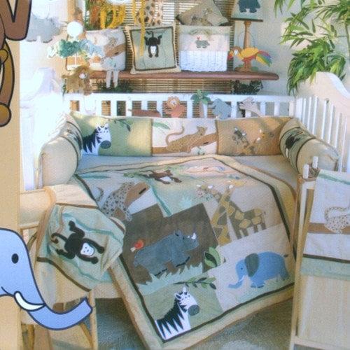 Brandee Danielle On Safari 4 Piece Crib Bedding Set