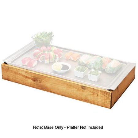 Cal Mil 3699-915-99 Madera Cold Concept Reclaimed Wood Frame with Cold Pack & Liner - 14.5 x 10.25 x 3.5
