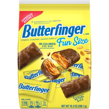 Butterfinger Fun Size Chocolate Candy Bars, 10.2 Oz, 6