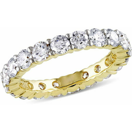 Miabella 3 Carat T.W. Diamond 14kt Yellow Gold Eternity (Diamond Tw Eternity Ring)