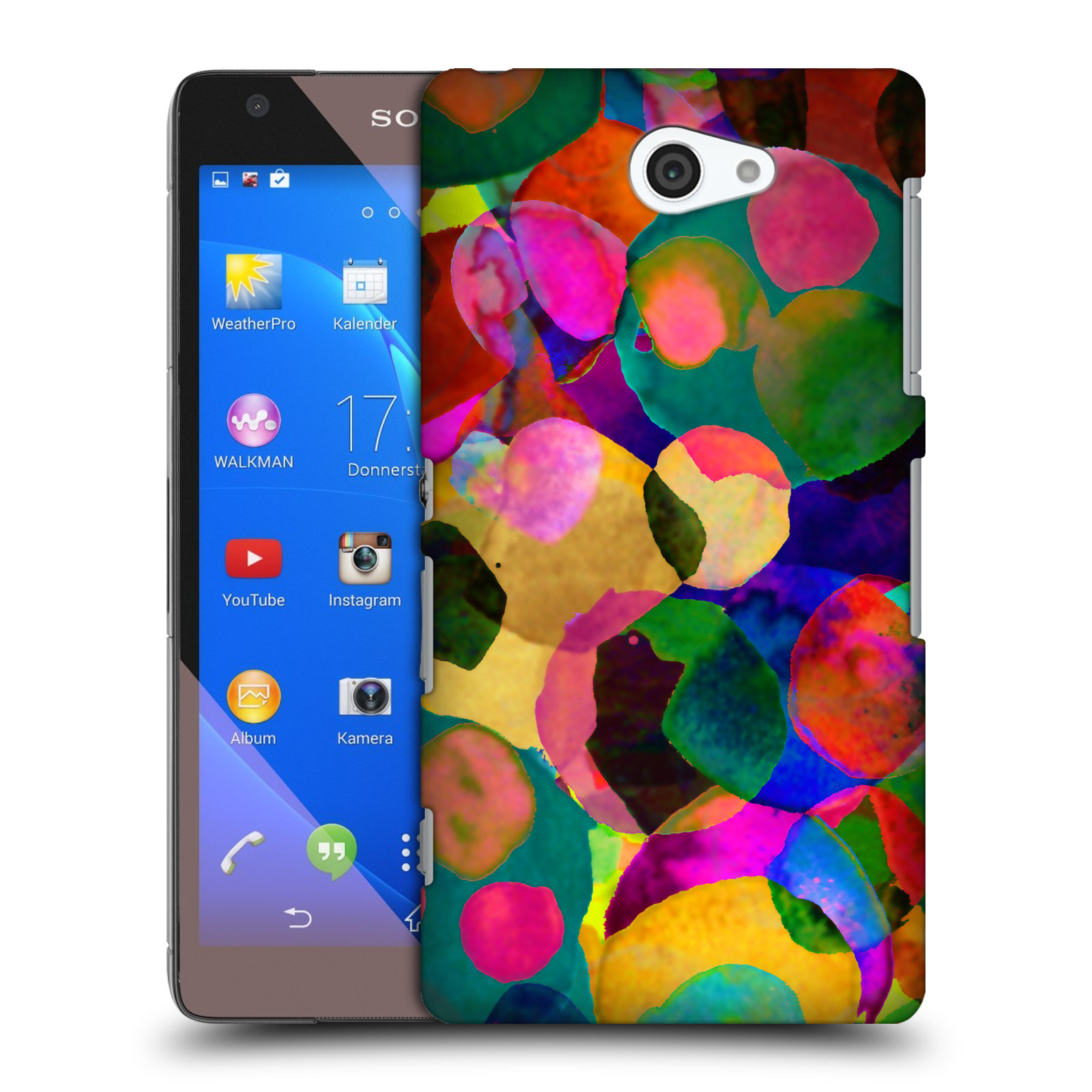 OFFICIAL AMY SIA WATERCOLOUR SPOTS HARD BACK CASE FOR SONY PHONES 4