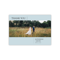 Personalized Wedding Thank You - Modern Simplicity - 5 x 7 Flat