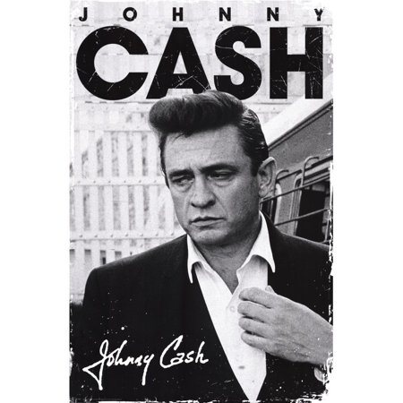 johnny cash signature music poster 24 x 36in by gb posters ship