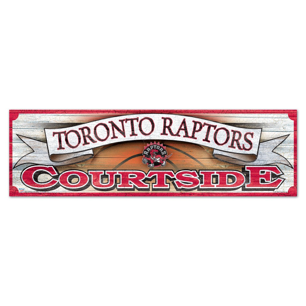 Toronto Raptors Official NBA 9 inch x 30 inch  Wood Sign by WinCraft