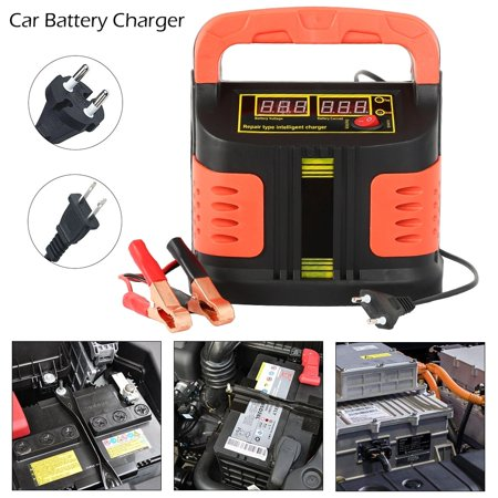 350W 12V/24V 200Ah Portable Electric Car Emergency Charger Booster Intelligent Pulse Repair Type ABS LCD Battery