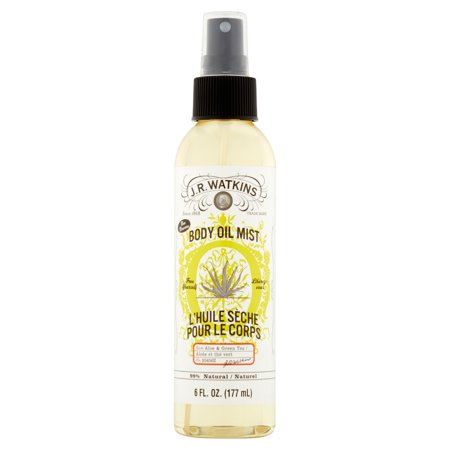 - J.R. Watkins Body Oil Mist, Aloe & Green Tea , 6 Oz Pump