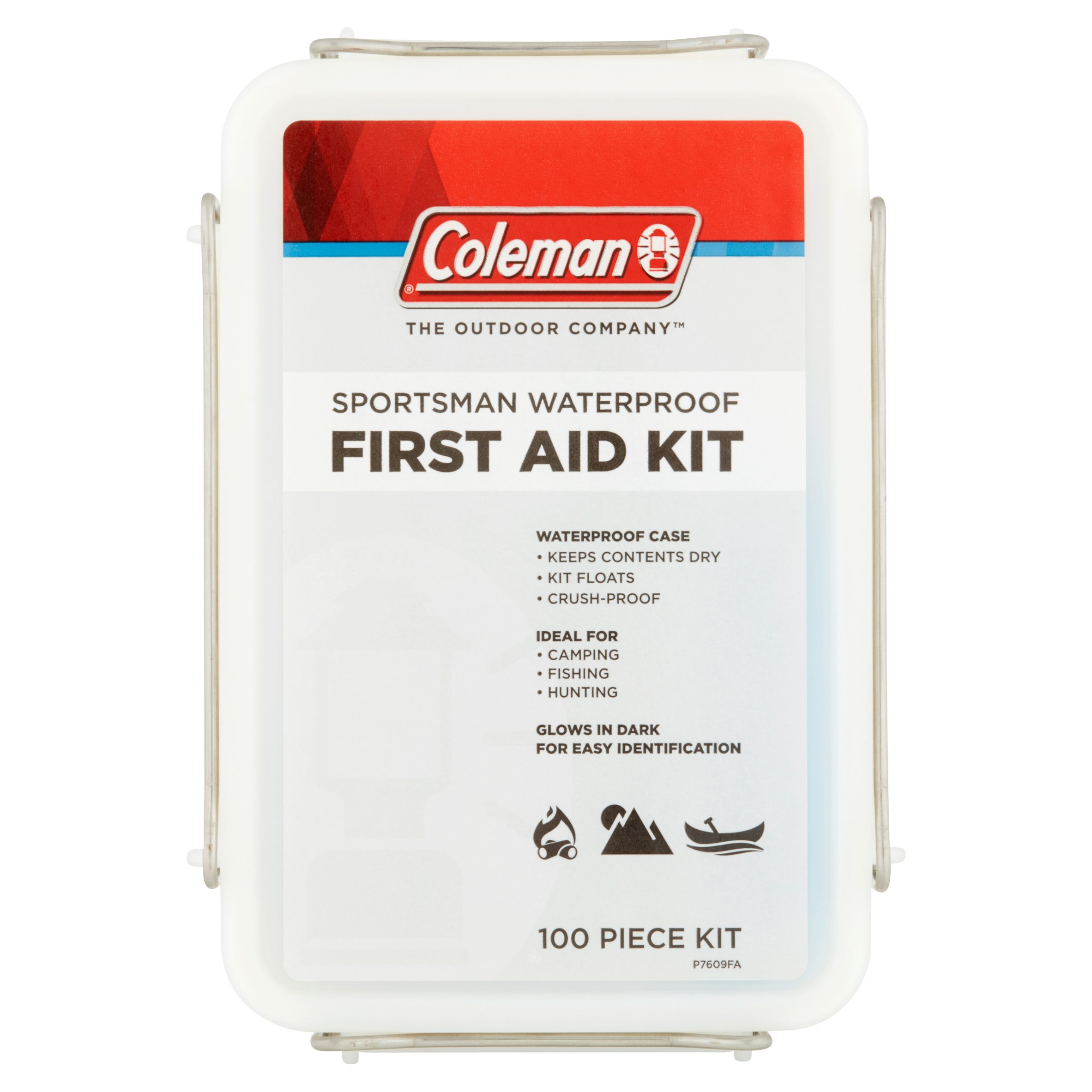 Click here to buy Coleman The Outdoor Company Sportsman Waterproof First Aid Kit 100 Piece Kit by Wisconsin Pharmacal Company, LLC.