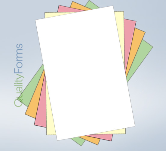 Legal Size 5 part  NCR Paper - Ream - Straight