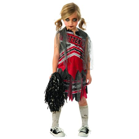 Spiritless Cheerleader Child Halloween Costume - Panthers Cheerleader Costume