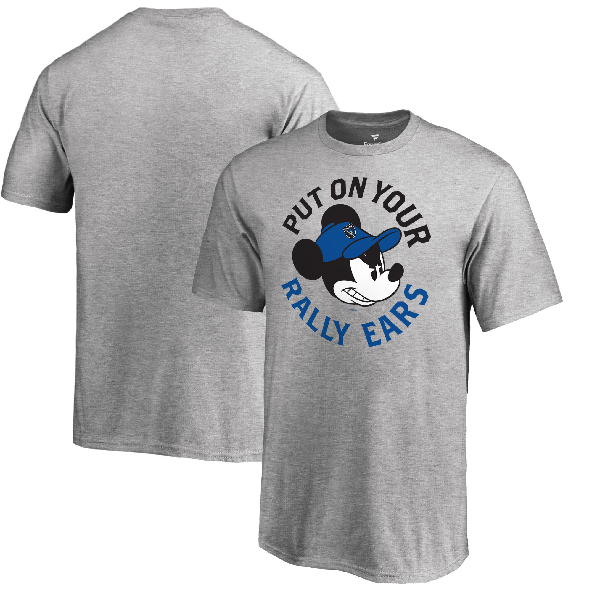 San Jose Earthquakes Fanatics Branded Youth Disney Rally Ears T-Shirt - Heathered Gray