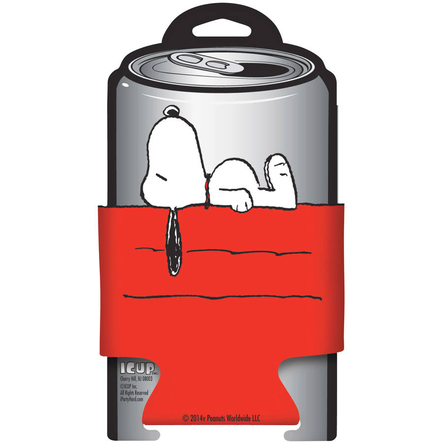 Peanuts Snoopy On His Dog House Diecut Can Cooler