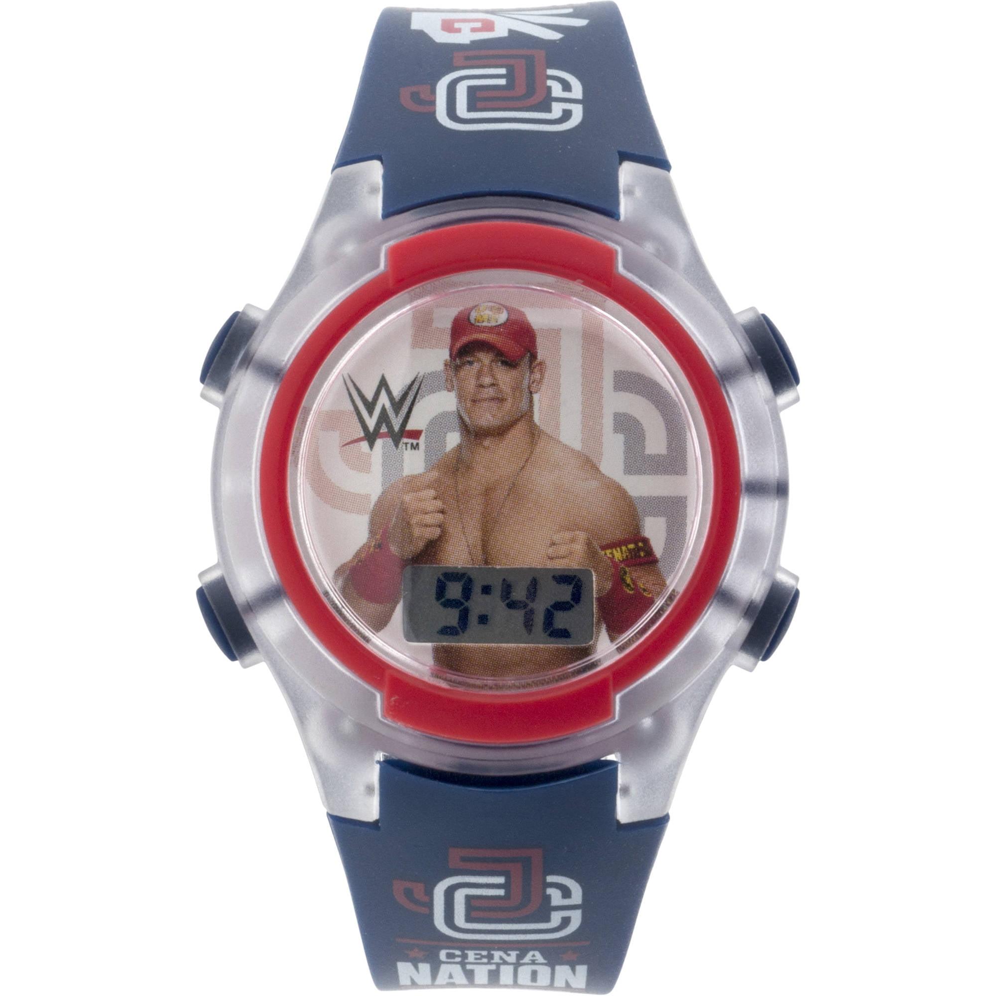 WWE Boy s Flashing Lights LCD Watch Walmart