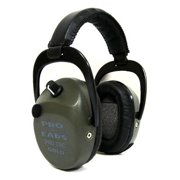 Pro Ears Pro Tac SC Gold Low Profile Low Weight NRR 25 Hearing Protectors, Green