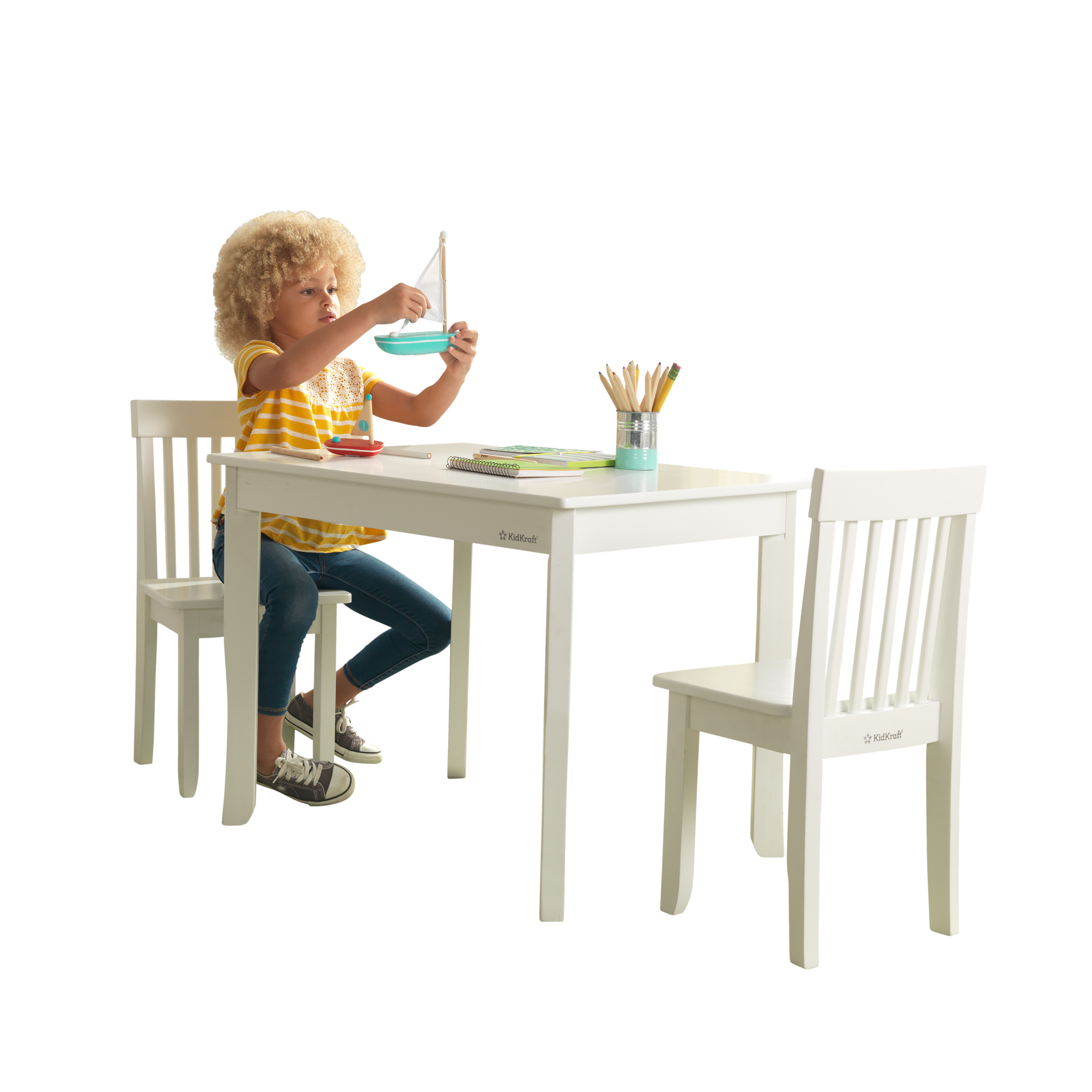 KidKraft Avalon Wood Table and 2 Chair Set, Multiple Colors