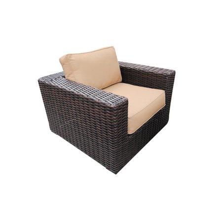 Teva Patio Santa Monica Wicker Rattan Patio Club Chair