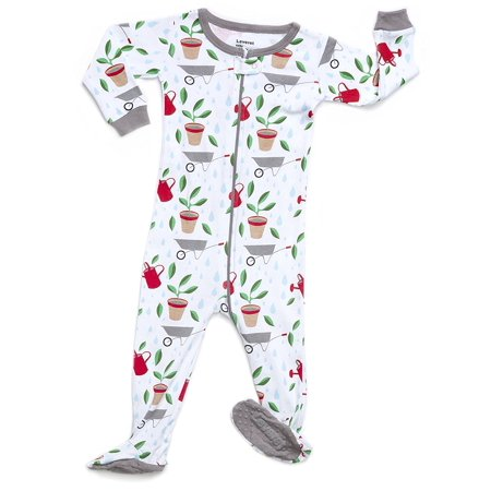 Leveret Organic Cotton Garden Footed Pajama Sleeper 12-18 Months -  Walmart.com 0b68917de