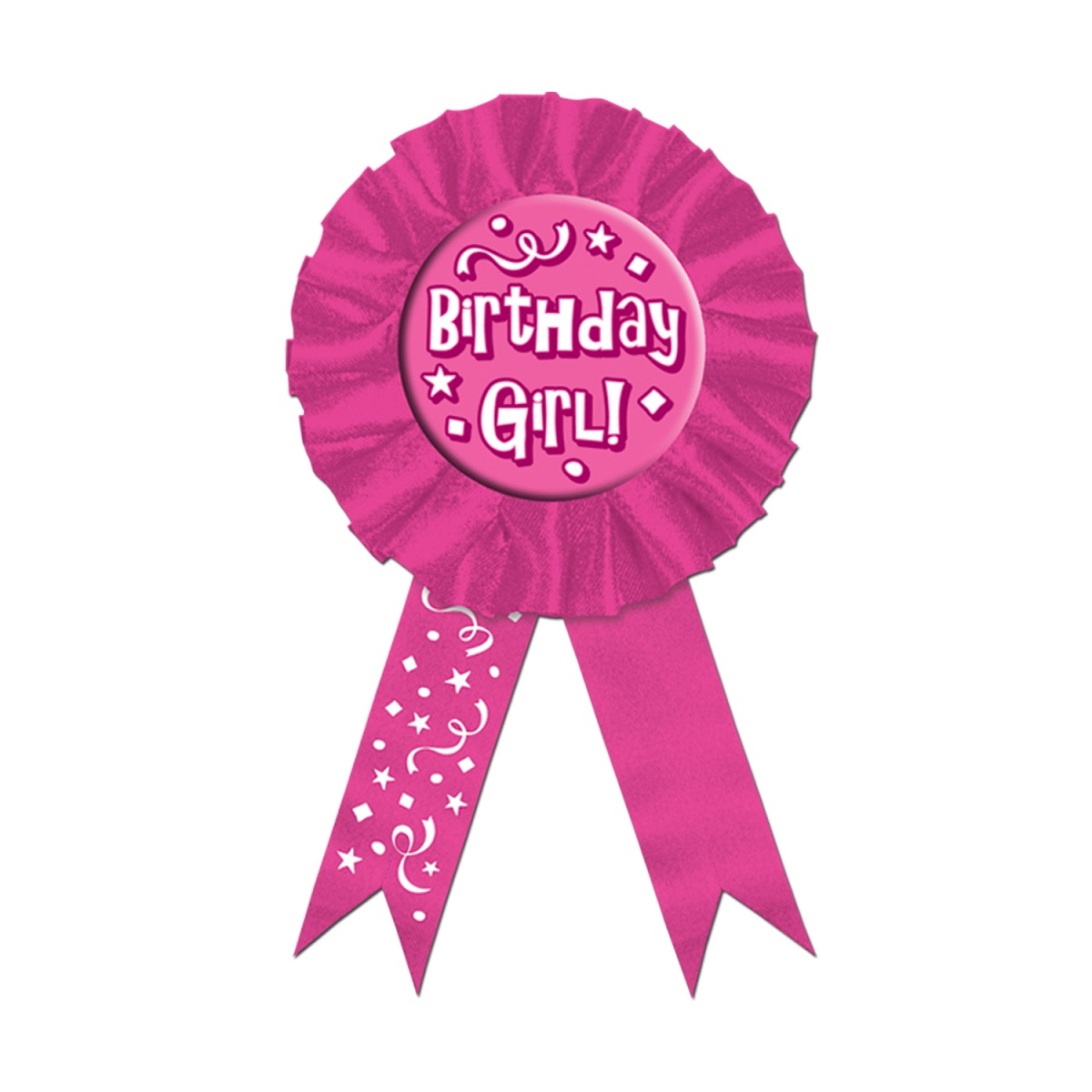 Pack of 6 ''Birthday Girl!'' Award Ribbons 3.75'' x 6.5''