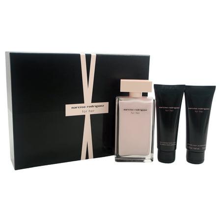 narciso rodriguez for her fragrance gift set 3 pc. Black Bedroom Furniture Sets. Home Design Ideas