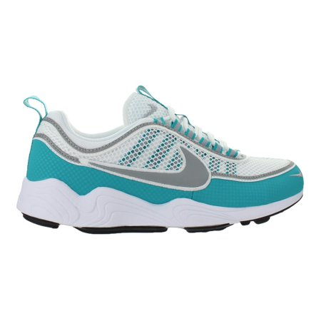 Dark Silver Air - Mens Nike Air Zoom Spiridon White Turbo Green Laser Orange Silver 8497