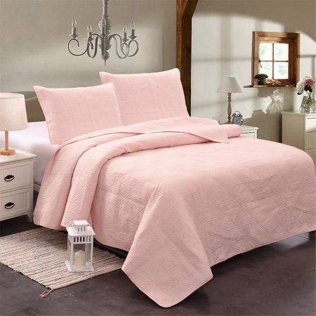 Jml 3 Pieces Solid Color 100 Cotton Quilt Set Bedspread King Size