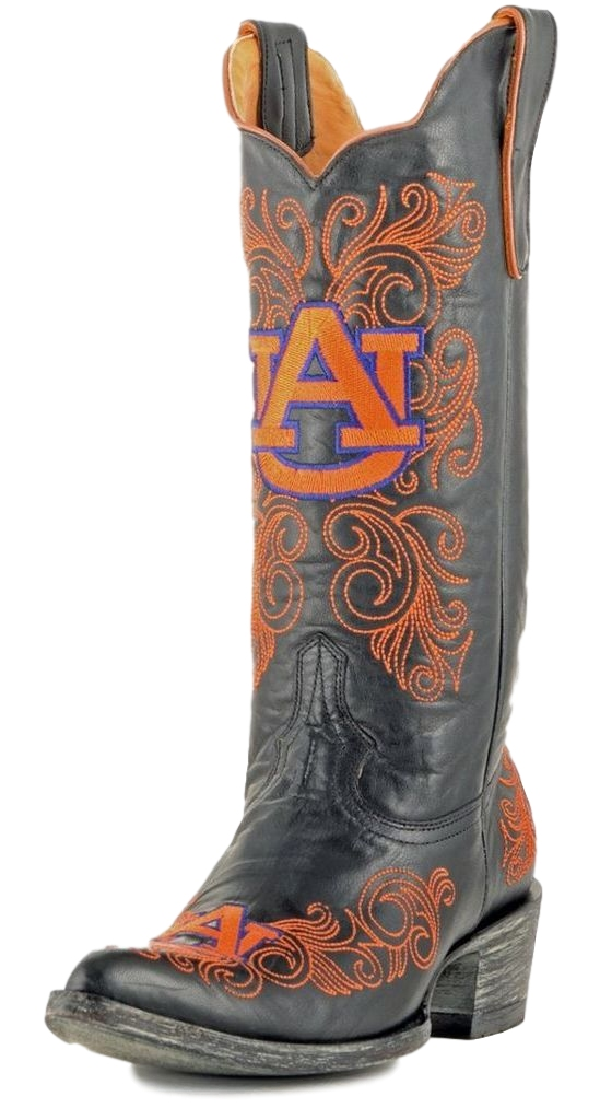 Gameday Boots Womens College Auburn Tigers Black Orange AUB-L040-2 by GameDay Boots