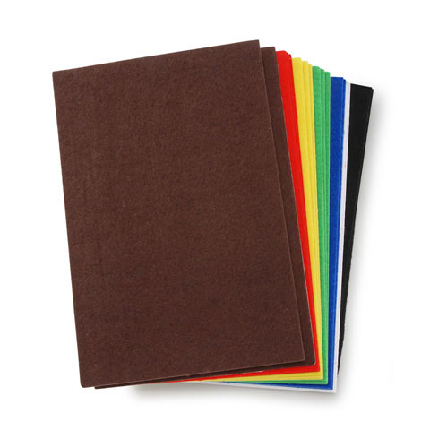 Darice Sticky Back Stiff Felt Sheets Value Pack - Bold Colors