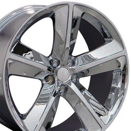 20 Inch Challenger SRT Wheel Fits: Dodge Challenger Charger SRT8 Magnum Chrysler 300 SRT8 | DG05 Chrome 20x9 Rim Hollander 2357 ()