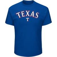 Men's Majestic Royal Texas Rangers Bigger Series Sweep T-Shirt