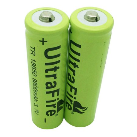 2PCS UltraFire 18650 Battery 8800mAh 3.7V Li-lon Rechargeable Charger For Flashlight