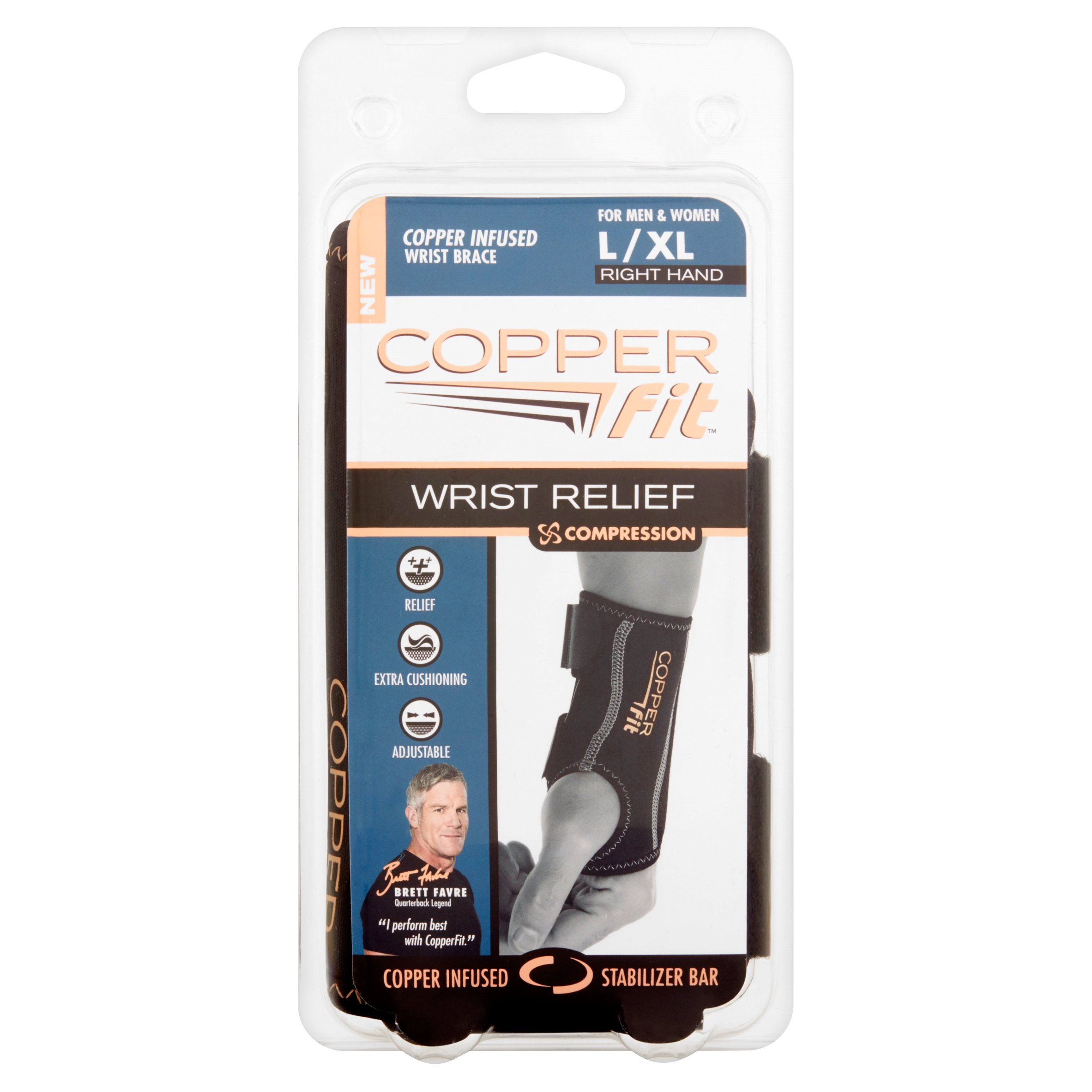 Copper Fit Compression Wrist Relief, L/XL