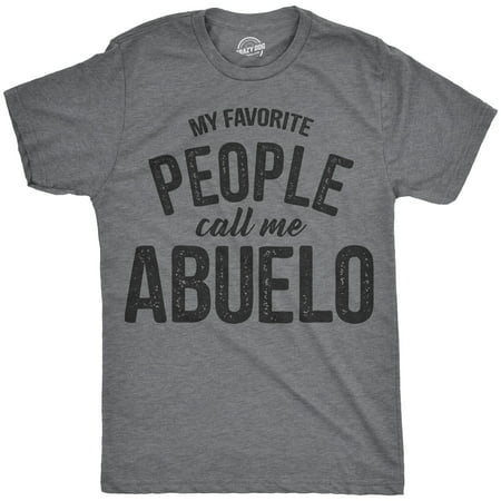 Mens My Favorite People Call Me Abuelo Tshirt Funny Fathers Day Tee For