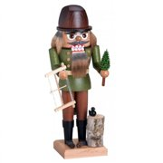 KWO Woodsman with Tree and Saw German Wood Christmas Nutcracker 10 Inch