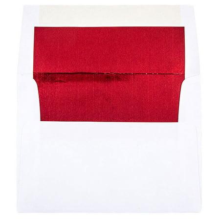 jam paper a2 foil lined invitation envelopes 4 3 8 x 5 3 4 white