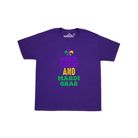 Keep Calm Mardi Gras Youth T-Shirt - Mardi Gras Clothing Store