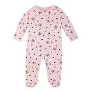 Little Star Organic Baby Girl Pure Organic Soft Cotton Thermal Footed Sleep 'N Play Pajamas