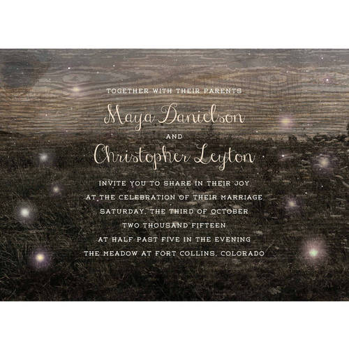 Firefly Fields Standard Wedding Invitation