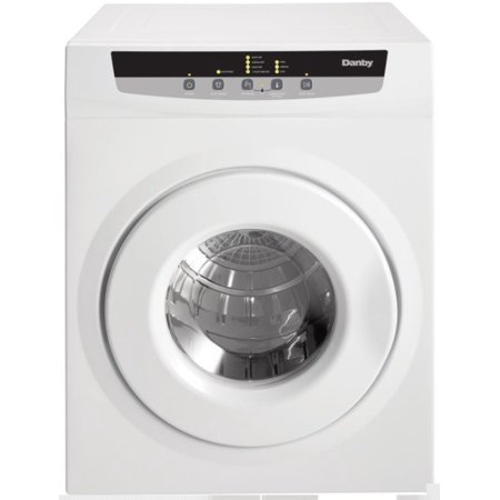 """Danby DDY060DB White 24"""" Wide 4.32 Cu. Ft. Capacity Electric Dryer"""