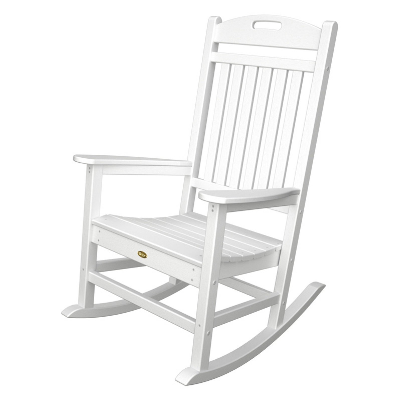 Beautiful Trex Outdoor Furniture Recycled Plastic Yacht Club Rocking Chair