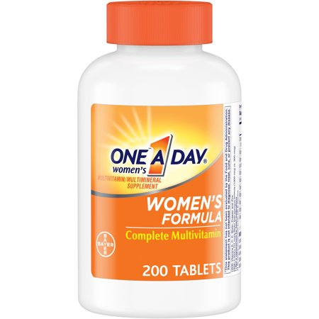 One A Day Women's Multivitamin Supplements with Vitamins A, C, E, B1, B2, B6, B12, Biotin, Calcium and Vitamin D, 200 ct.