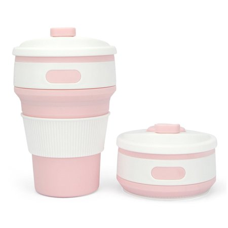 Collapsible Travel Cup Coffee with Lid Silicone Foldable Drinking Mug for Hiking Camping travel Picnic & Parties - Party City Hiring