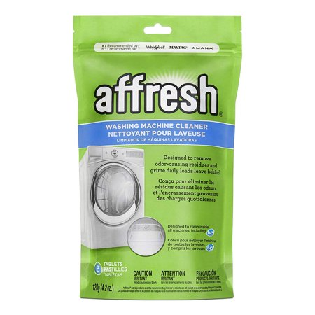 Whirlpool - Affresh High Efficiency Washer Cleaner, packs-3-Tablets, 4.2 Ounce Designed to penetrate, dissolve and remove odor-causing residue that can occur in all washing machines.Specially formulated tablet dissolves slowly, lasting throughout the entire wash cycle and breaking up residue better than bleach.Safe to use with Front Load Washing Machines and Top Load Washing Machines - High Efficiency (HE) and Conventional Washers.Use once a month to keep your machine fresher and cleaner, Septic tank safe.