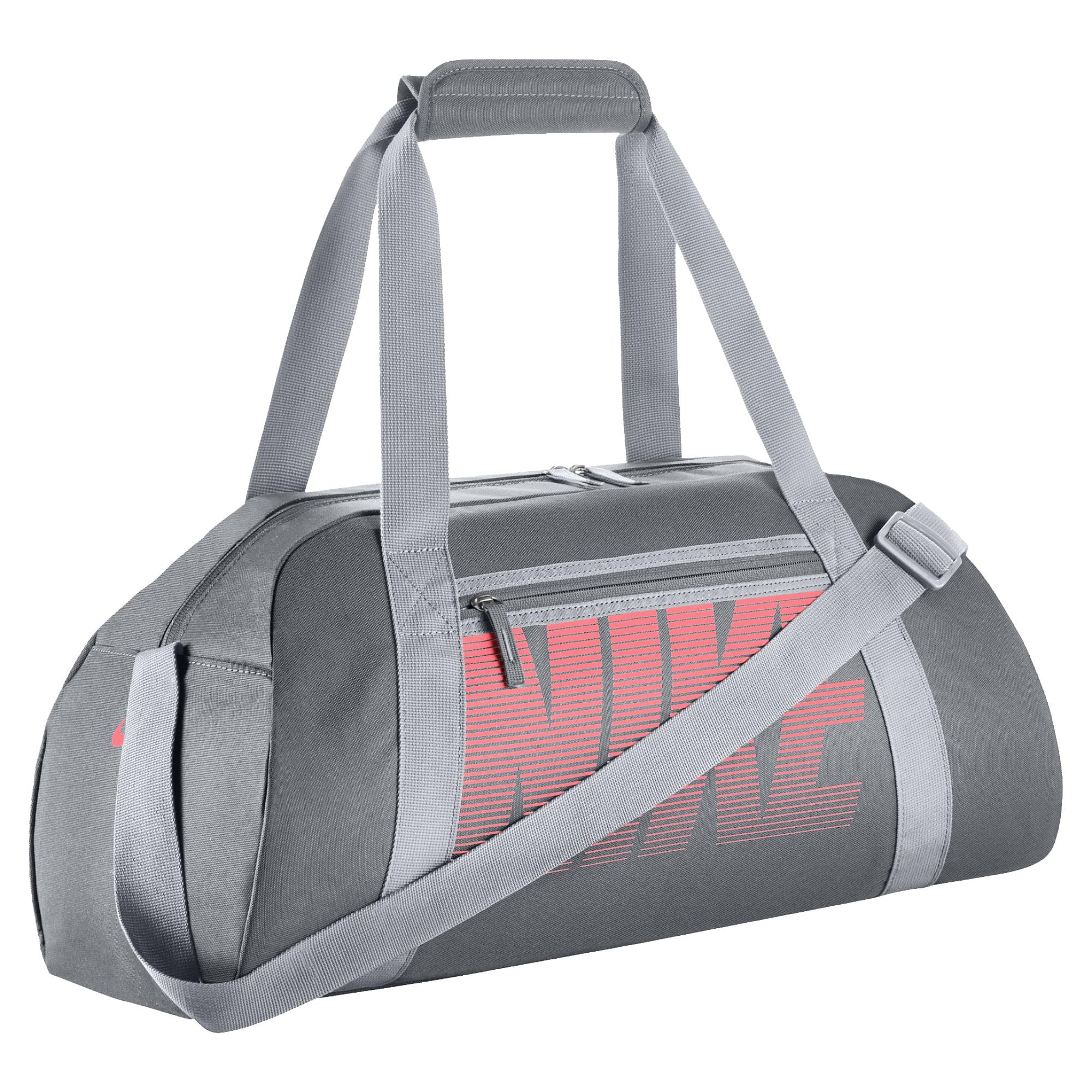 Nike Gym Club Women S Training Duffel Bag Grey Wolf Lava Glow 065