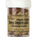 Stampendous Deep Impression Embossing Enamel, .63oz, Chunky Copper