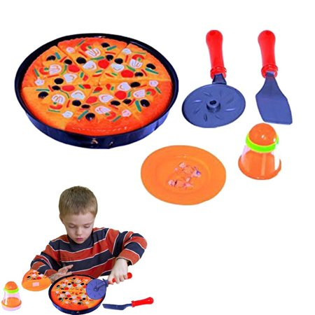 dazzling toys Pizza Pie Party + Cooking & Cutting Accessories Play Set Toy for Kids ()