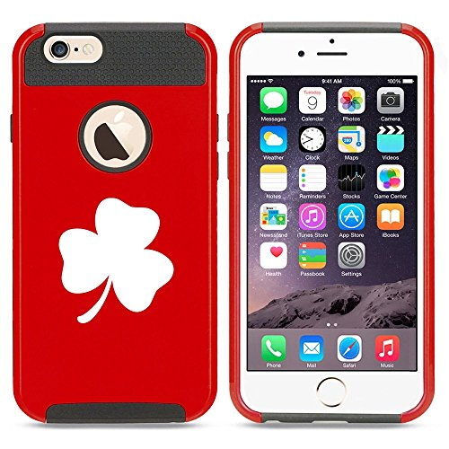 Apple iPhone 5 5s Shockproof Impact Hard Case Cover 3 Leaf Clover Shamrock (Red ),MIP