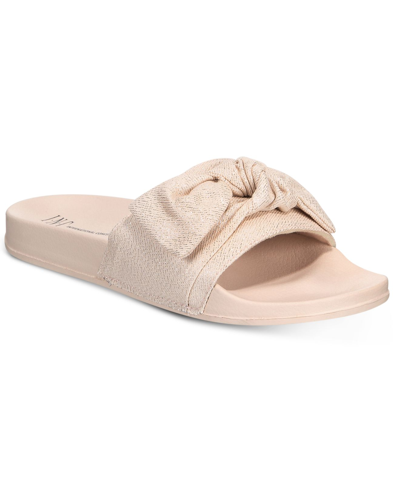 INC International Concepts Women's Knotted Slide Slippers