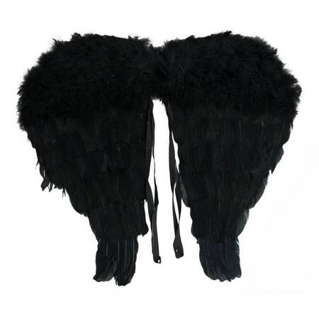 Star Power Genuine Feather Beautiful Wings, Black, Child Size (18